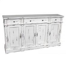 White 4-Door Sideboard