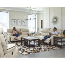 Pwr Lay Flat Reclining Cnsl Loveseat w/Strg, Cupholders, USB