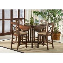 Cherry Drop Leaf Pub Table & 4 Chairs