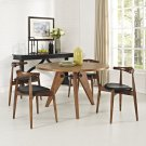 Stalwart Dining Chairs and Table Set of 5 in Dark Walnut Black Product Image