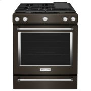 30-Inch 5-Burner Gas Slide-In Convection Range - Black Stainless Steel with PrintShield™ Finish Product Image