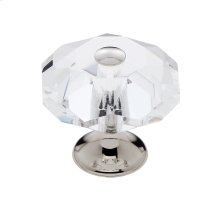 Polished Nickel 35 mm 8-Sided Crystal Knob