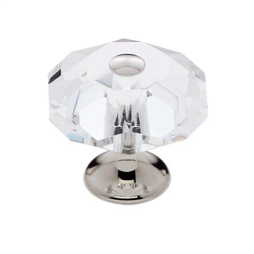Polished Nickel 35 mm 8-Sided Crystal Knob