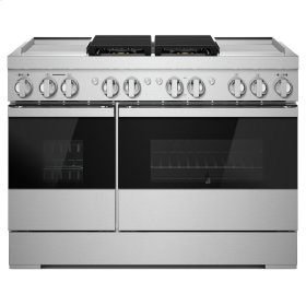 "NOIR™ 48"" Dual-Fuel Professional Range with Dual Chrome-Infused Griddles, NOIR"