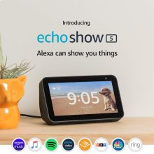 Introducing Echo Show 5 - Compact smart display with Alexa - Charcoal