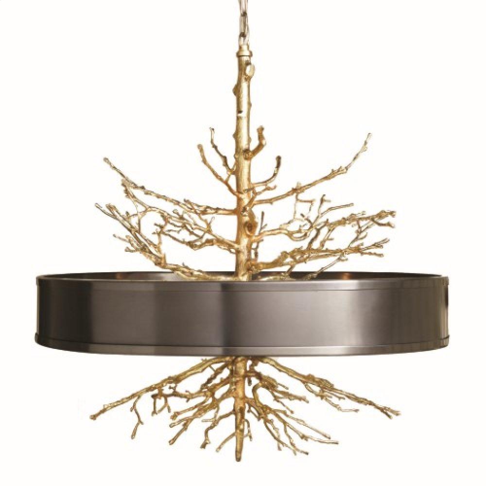 Twig Pendant-Brass w/Bronze Shade