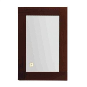 Antonio Miro rectangular mirror with Iroko wood frame and a built-in clock. Product Image