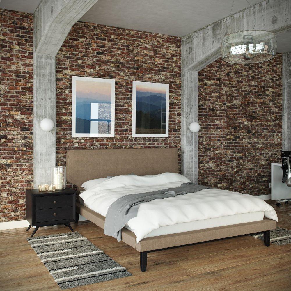 Bethany 2 Piece Queen Bedroom Set in Black Latte