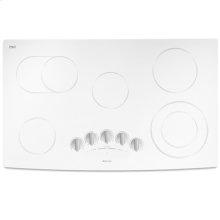 "36"" Electric Radiant Cooktop, Floating Glass White"