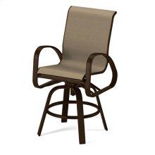 Primera Sling Balcony Height Swivel Arm Chair