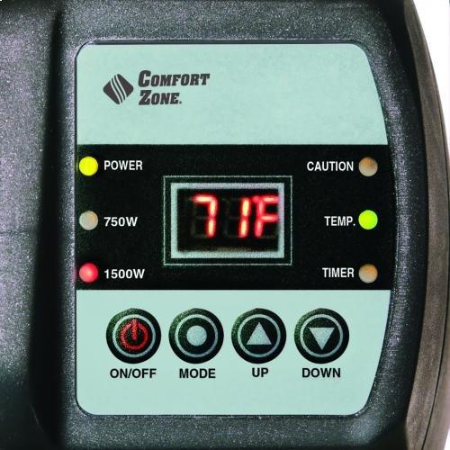 CZ650B Radiant Electric Wire Element Digital Baseboard Heater, Black