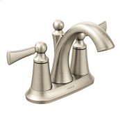 Wynford brushed nickel two-handle bathroom faucet