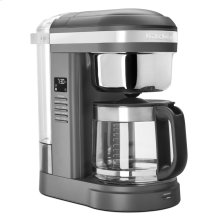 12 Cup Drip Coffee Maker with Spiral Showerhead and Programmable Warming Plate - Matte Charcoal Grey