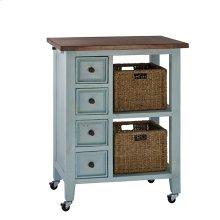 Tuscan Retreat®2 Basket Kitchen Cart- Sea Blue
