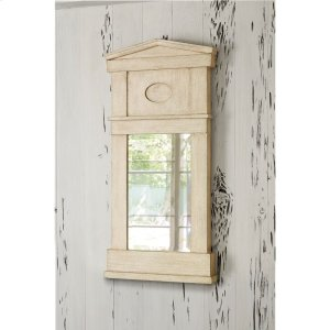 Pediment Mirror - Antique White Product Image