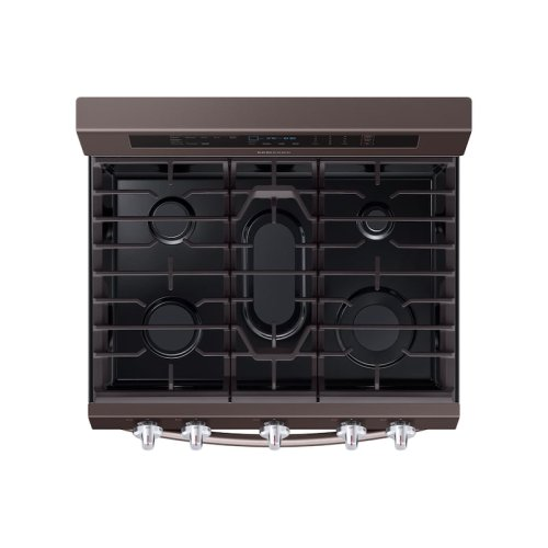 5.8 cu. ft. True Convection Freestanding Gas Range with Illuminated Knobs in Tuscan Stainless Steel