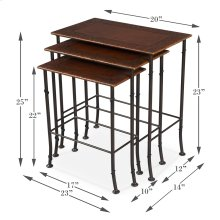 Kew Gardens Leather Nesting Tables