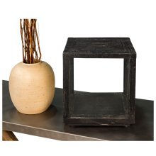 Small Candlestand, Weathered Black
