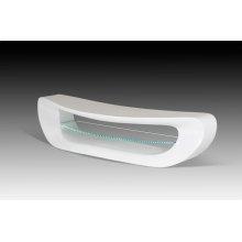 Modrest Crest - Contemporary White TV Stand