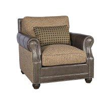 Julianna Leather Fabric Companion Chair