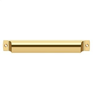 """Rectangular Shell Pull 7"""" - PVD Polished Brass Product Image"""