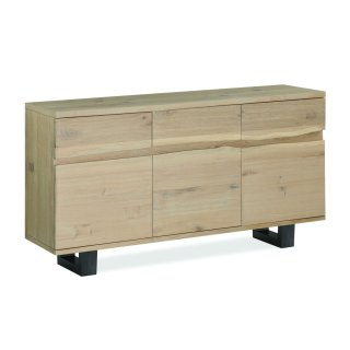 White Oil Live Edge Sideboard Metal Base