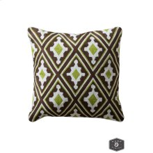 ALICE PILLOW- MULTI  Hand Embroidered Wool on Cotton  Down Feather Insert
