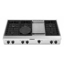 "6 Burners Griddle Porcelain-on-Steel Cooktop Architect® Series Gas 48"" Width"