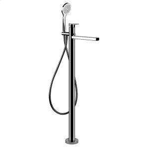 "TRIM PARTS ONLYFloor-mounted tub fillerHandshower59"" flex hoseDiverterSpout projection 9-3/4""Requires in-floor rough valve 48189Hand shower max flow rate 2.0 GPMSpout max flow rate 5.7 GPM at 43 PSI Product Image"