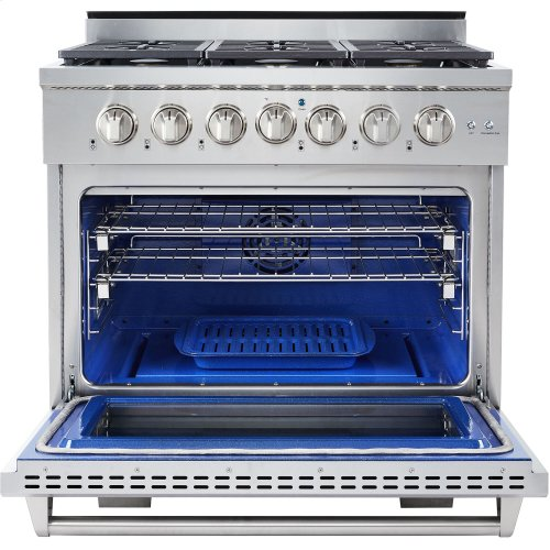 """36"""" Professional Style Gas Range in Stainless Steel"""