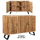 Bengal Manor Acadia Wood Burnt 3 Door Sideboard Product Image