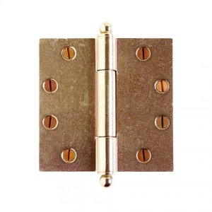 """Butt Hinge - 4 1/2"""" x 4 1/2"""" Silicon Bronze Brushed Product Image"""