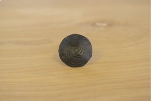 """1"""" Black 10 Pack Wavy Round Clavos Product Image"""