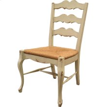 French Cottage Side Chair with Rush Seat