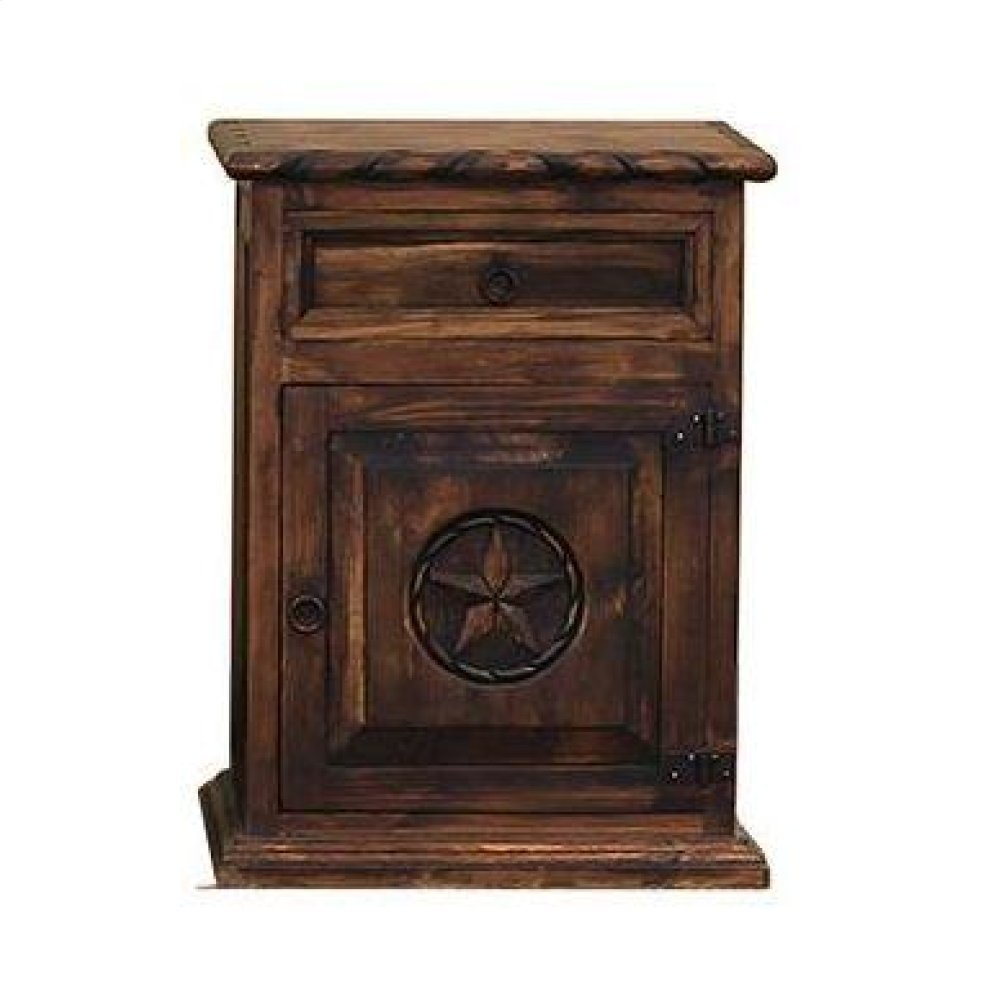 Nightstand W/Rope and Star (Right) Medio Finish
