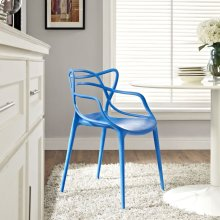 Entangled Dining Armchair in Blue