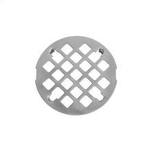 """White - Shower Drain Snap In Plate (3 1/4"""" Diameter)"""