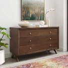 Providence Three-Drawer Dresser or Stand in Walnut Product Image