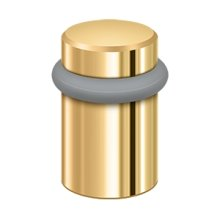"Round Universal Floor Bumper 2"", Solid Brass - PVD Polished Brass"