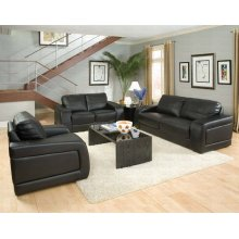"LOVE SEAT,BLACK/F 64""Lx37""Wx35""H"