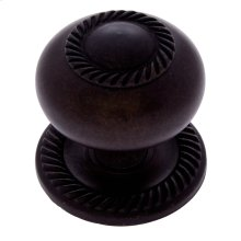 "Oil Rubbed Bronze 1-1/2"" Rope Knob"