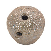 Decorative Ceramic Sea Urchin Orb, Beige