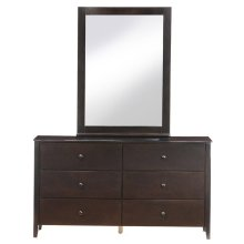 Dresser/Mirror (Chocolate)