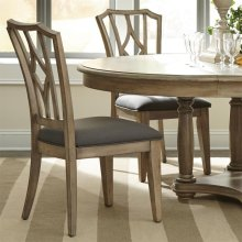 Corinne - Upholstered Diamond Back Side Chair - Sun-drenched Acacia Finish
