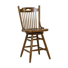 "24"" Farmhouse Swivel Barstool"