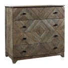 Bengal Manor Acacia Wood Diamond Pattern 4 Drawer Chest Product Image