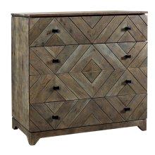 Bengal Manor Acacia Wood Diamond Pattern 4 Drawer Chest