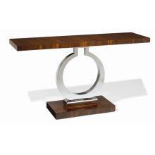 Milan Satin Walnut Console