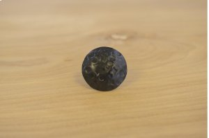 """1"""" Black 10 Pack Dimpled Round Clavos Product Image"""