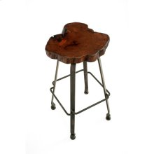Steel Traditions - Clovis Swivel Barstool With Mesquite Seat